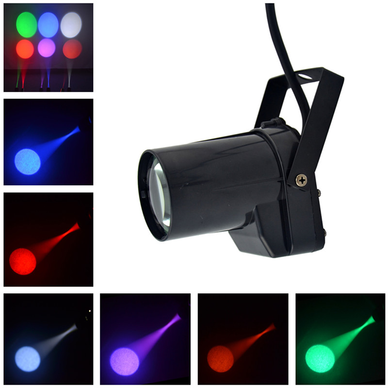 AUCD Mini 5W Single Color LED Track Light Store Art Decor Projector Spotlights Beam Lamp Home Party DJ Show Stage Lighting M01
