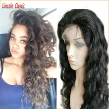 2016 New Arrival Deep Body Wave Full Lace Wig Brazilian Virgin font b Hair b font