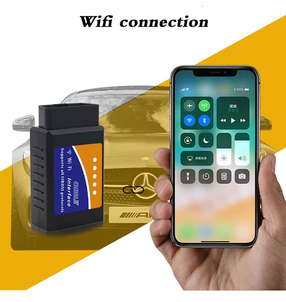 Super PIC18F25K80 ELM327 WIFI V1.5 OBD2 Car Diagnostic Scanner Best Elm327 WI-FI Mini ELM 327 V 1.5 OBDII iOS Diagnostic Tool