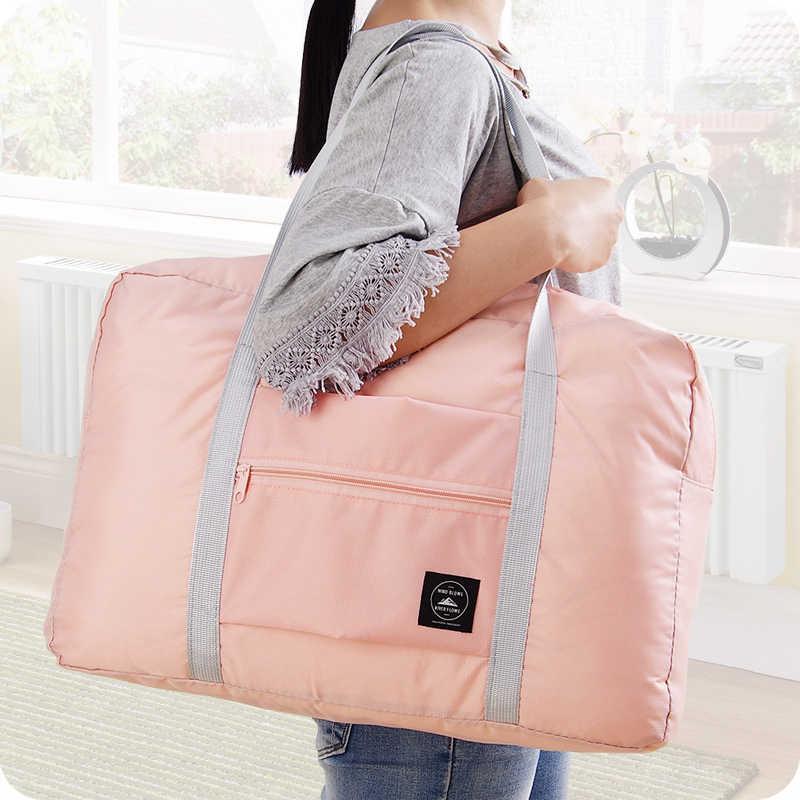 ff09fa650526 ... LDAJMW Горячие повседневное большой ёмкость чемодан упаковка Tote/плечо  путешествия хозяйственная сумка складная Одежда сумка ...