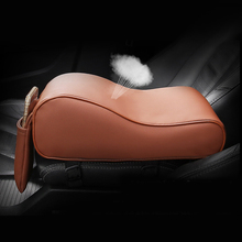 Car Armrest Box Mats Auto Center Console Support Phone Holder PU Leather Car-styling Armrest Pad Set For VW Benz Audi Mazda Kia