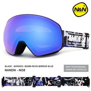 Image 3 - Nandn novo óculos de esqui camadas duplas uv400 anti nevoeiro grande máscara de esqui óculos de snowboard de neve