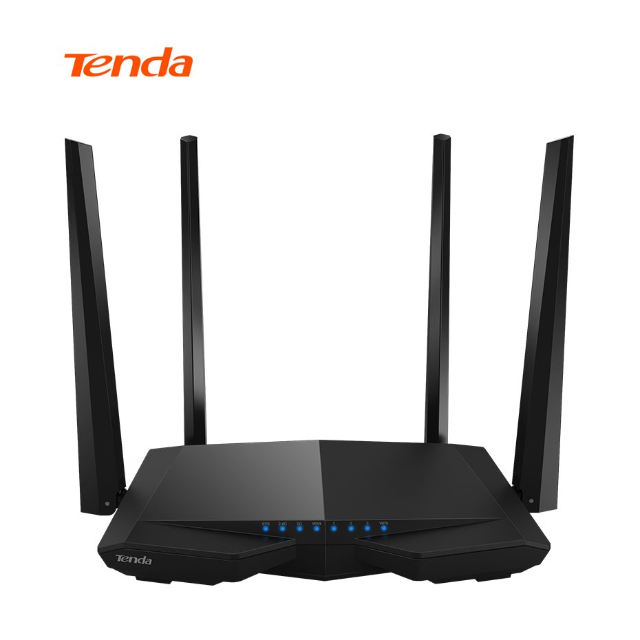 Tenda AC6 Wireless Wifi Router 1200M 11AC Dual Band Wireless Wi-fi Repeater 2.4G/5G APP Remote Control EU/US Firmware RU Custom tp link wireless router 802 11ac ac1750 dual band wireless wifi router 2 4g 5 0g vpn wifi repeater tl wdr7400 app routers