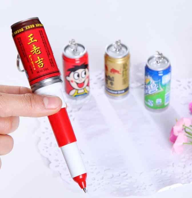 (1 PCS/Vendita) lattine di coca penna Penne A Sfera Cancelleria Penna A Sfera Penna Dello Stilo di Tocco Penna Grassa Refill Nero 0.7 millimetri
