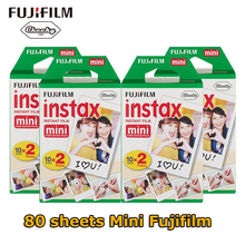 Оригинальный FUJI Fujifilm Instax Mini 8 фильм 80 листов белый край фотобумаги для Polaroid 7 s 8 90 25 55 поделиться SP-1 мгновенный Камера
