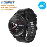 Kospet надеюсь Lite 4G Smartwatch IP67 Водонепроницаемый часы телефон Android 7,1 MTK6739 4 ядра 1,25 GHz 1 GB + 16 GB 8.0MP Cam Смарт часы