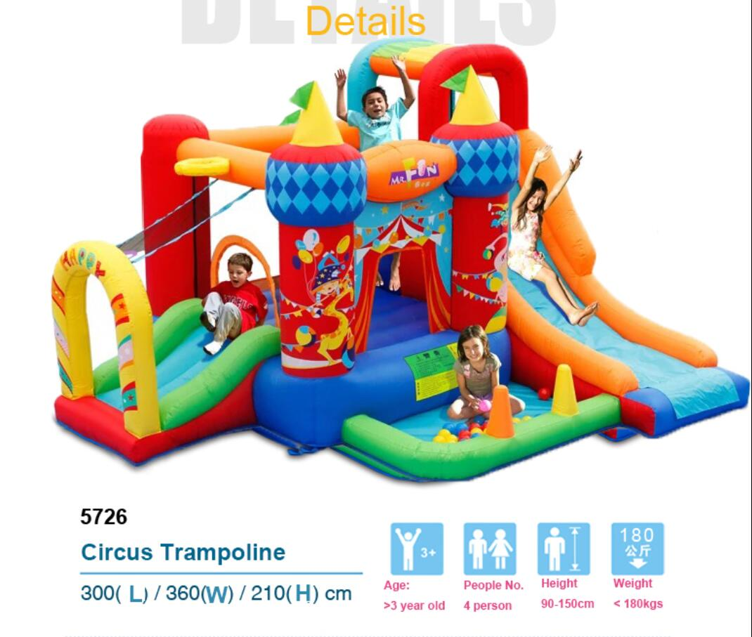 Residential Nylon Pvc Inflatable Bouncy Combo Bounce