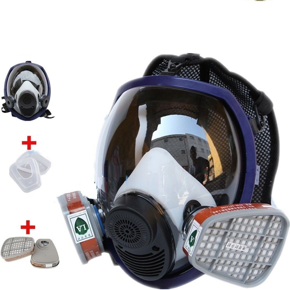 Respirator Gas Mask Anti-dust / Organic Air/Acid Gas/Ammonia Gas Safety Helmet Industry Painting Spraying Gas Mask Promotion 9 in 1 suit gas mask half face respirator painting spraying for 3 m 7502 n95 6001cn dust gas mask respirator