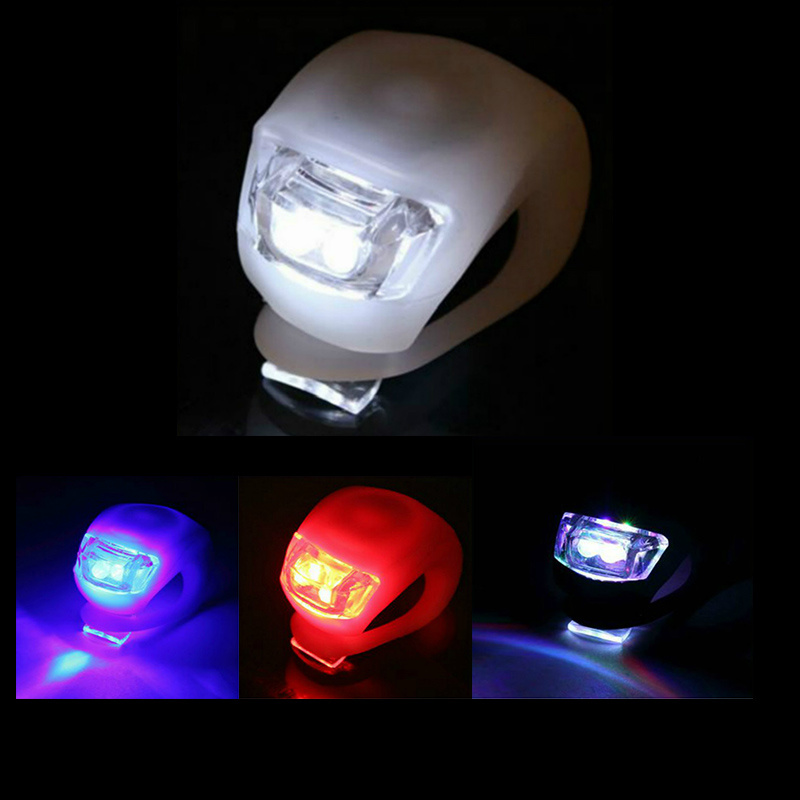 LED Bike Lights Silicone Bicycle Light Head Front Rear Wheel Bike Light Lamp MTB Cycling Front Lights Bicycle Accessories Lamp