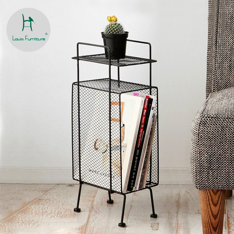 US $38.8 |Louis Fashion Bookcases Modern Simple Magazine Bookshelf Corner  of Living Room Storage Small Apartment-in Bookcases from Furniture on ...