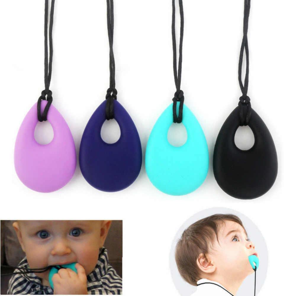 Милый детский Силиконовый грызунок Прорезыватель игрушка грызунок для младенцев детское ожерелье Chewy против аутизма подарок ADHD безопасный пищевой обучение