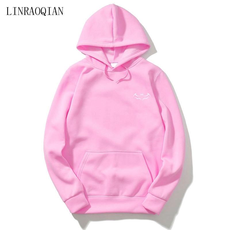 Pink Fashion Batman Hoodies Men Women Sweatshirt Autumn Long Sleeve Hooded Sweatshirts Men Pullover Hoodie Sudadera Hombre