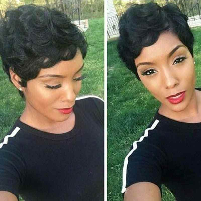 Finger Waves Wig 2019 South African Hairstyles For Short Hair Funmi Brazilian Virgin Human Hair Wigs For Black Women Free Ship