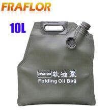 10l litros portátil dobrável saco de gasolina latas de armazenamento de óleo de reposição bexiga tanque de combustível balde de gasolina durável jerry pode jerrycan