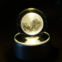 3D LED Night Light Neidiao Rotating Crystal Ball Table Lamp Christmas Tree Dandelion Moon Bedroom Decorations New Year Gifts