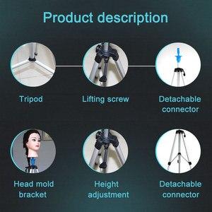 Image 2 - Mannequin Head Holder Tripod Stand Adjustable Hairdressing Practice for Salon Barber Hairdresser MH88