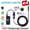 HD720P WIFI Iphone Endoscope Snake USB Camera 8mm Lens 5M 3.5M 2M 1M Android Tablet PC Pipe Inspection Borescope USB Camera