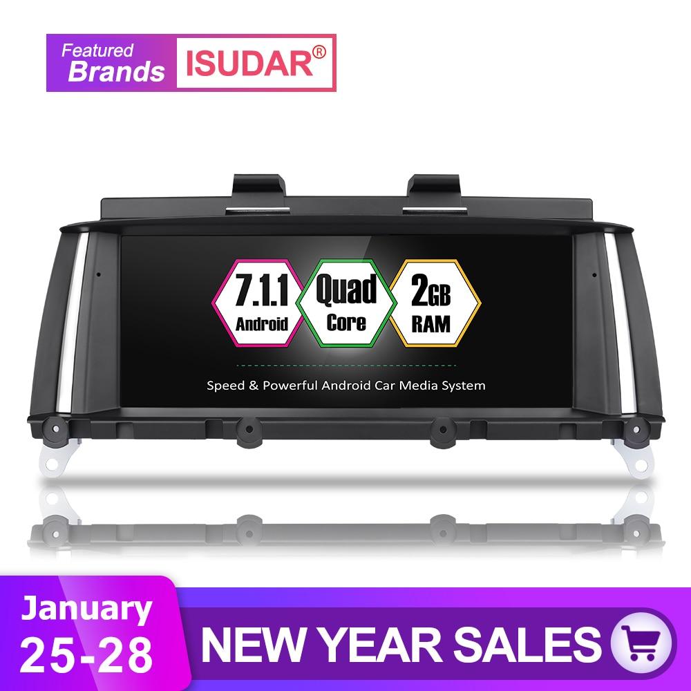 Isudar Voiture lecteur multimédia 2 din android 7.1.1 10.25 Pouces Pour BMW 5 Série F10/F11/520 (2011 -2016) pour CIC/NBT radio gps 32 GB