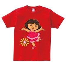 children Brand New T shirt Dora girls Sweet Lovely style t infant/baby cute cartoon tees Explorer girl summer tops  N