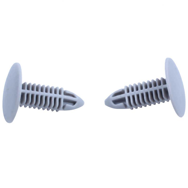 30 штук Пластиковые Крепежные шурупы серый фланец Fender зажимы бамперов для отверстия 6 мм x 6,7 мм