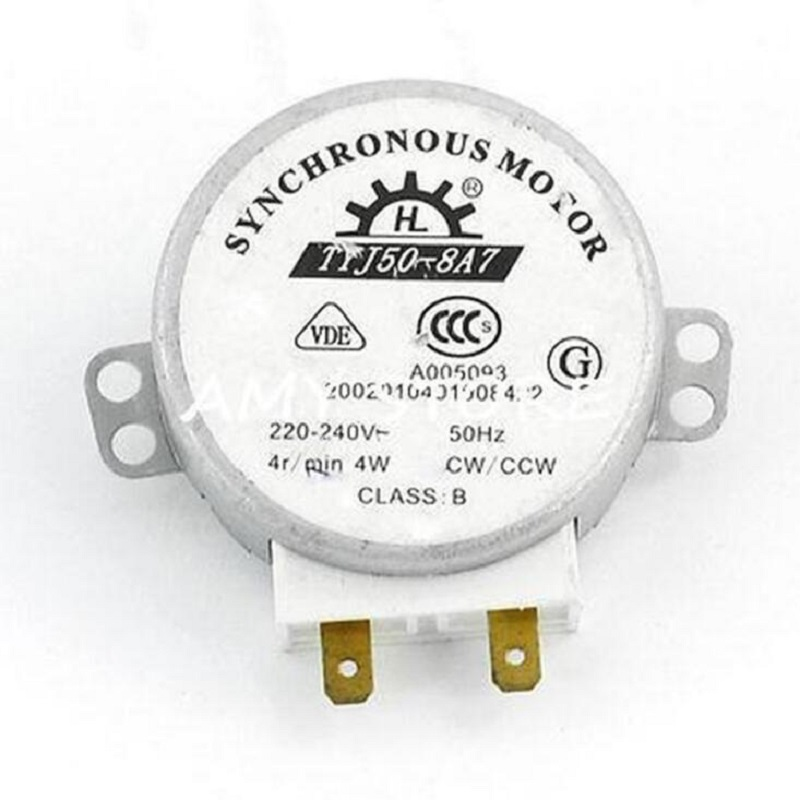 Ecombird Ecombird Microwave Oven Turntable Synchronous Motor 4W AC 220-240V 4 RPM CW/CCW 2pcs microwave oven cw ccw synchronous motor 4w 4rpm ac 220 240v