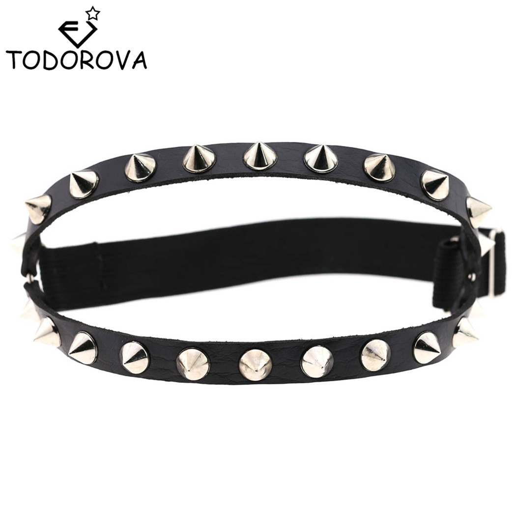Todorova Female Popular Sexy Harajuku Style PU Leather Garter Belt Punk Leather Garters Leg Ring Harness Women Gift Adjustable image