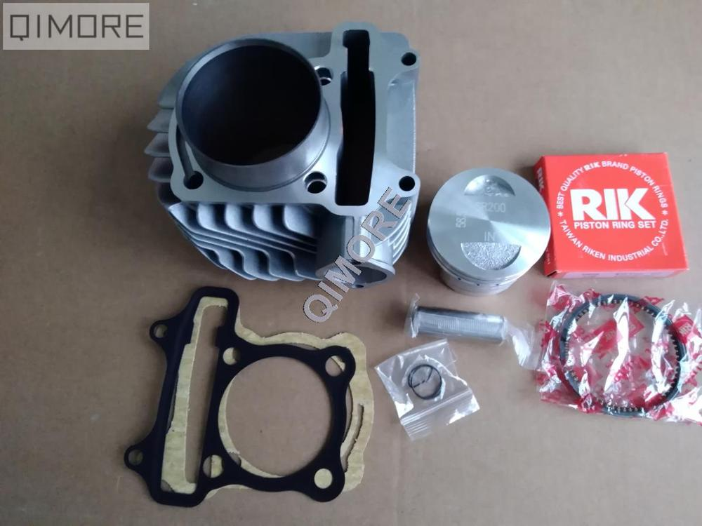 58.5mm 2 V big bore Cylindre Piston Ring Set pour Scooter ATV QUAD 152QMI 157QMJ 1P57QMJ GY6 125 GY6 150 RIK ANNEAUX SR200 PISTON