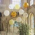 36 pulgadas globo grande espesar 25 g/pcs buena calidad fuentes del partido de cumpleaños de la boda de plata de oro blanco color 5 unids/lote envío gratis