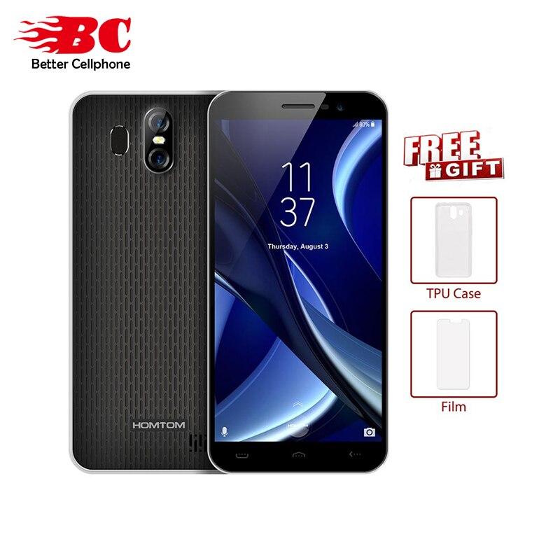HOMTOM S16 18:9 5.5 MT6580 Quad Core 3000 mAh 1300MP D'empreintes Digitales 1280*640 P Android 7.0 2 GB + 16 GB Rear13.0MP + 2.0MP OTA Portable