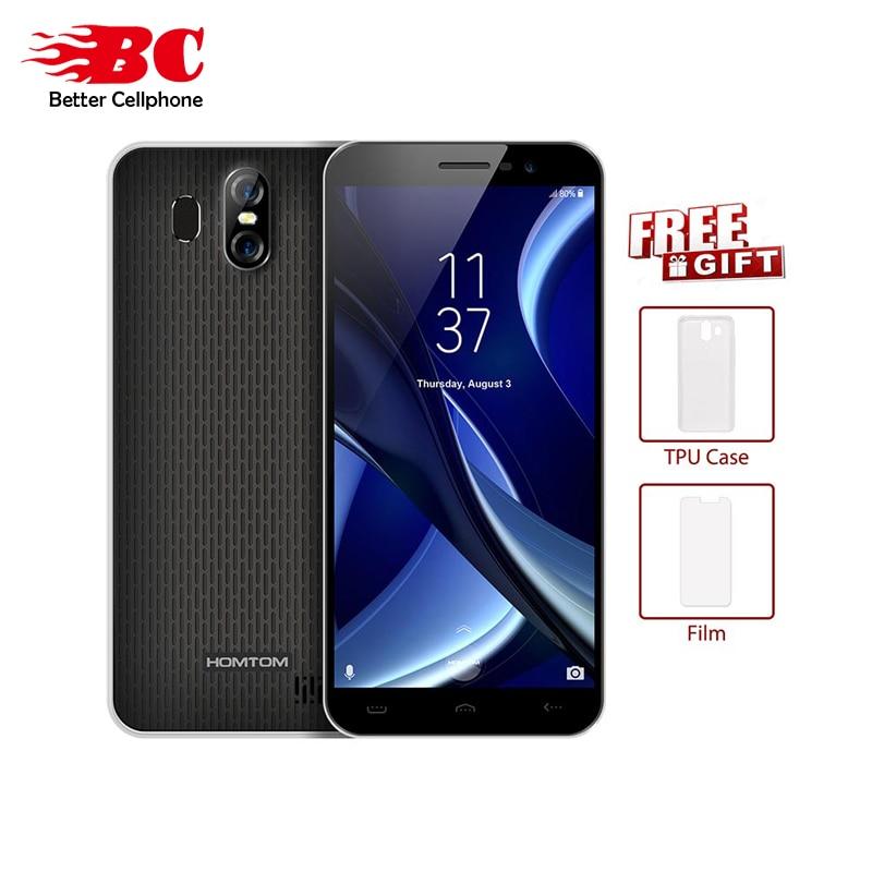 "Humoristisch Homtom S16 18:9 5.5 ""mt6580 Quad Core 3000 Mah 1300mp Vingerafdruk 1280*640 P Android 7.0 2 Gb + 16 Gb Rear13.0mp + 2.0mp Ota Mobilephone Verlichten Van Reuma En Verkoudheid"