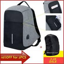 08e5bfb4e5c93c Mochila anti roubo masculina, mochila de laptop 15,6 com carregador USB,  mochila
