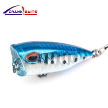 Купить с кэшбэком CRANK BAITS Mini Popper Fishing Lure isca artificial fishing bait Crankbait Wobblers high carbon steel hook Fishing Lures YB117
