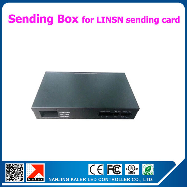 Black LINSN sending box for LINSN sending card TS802D