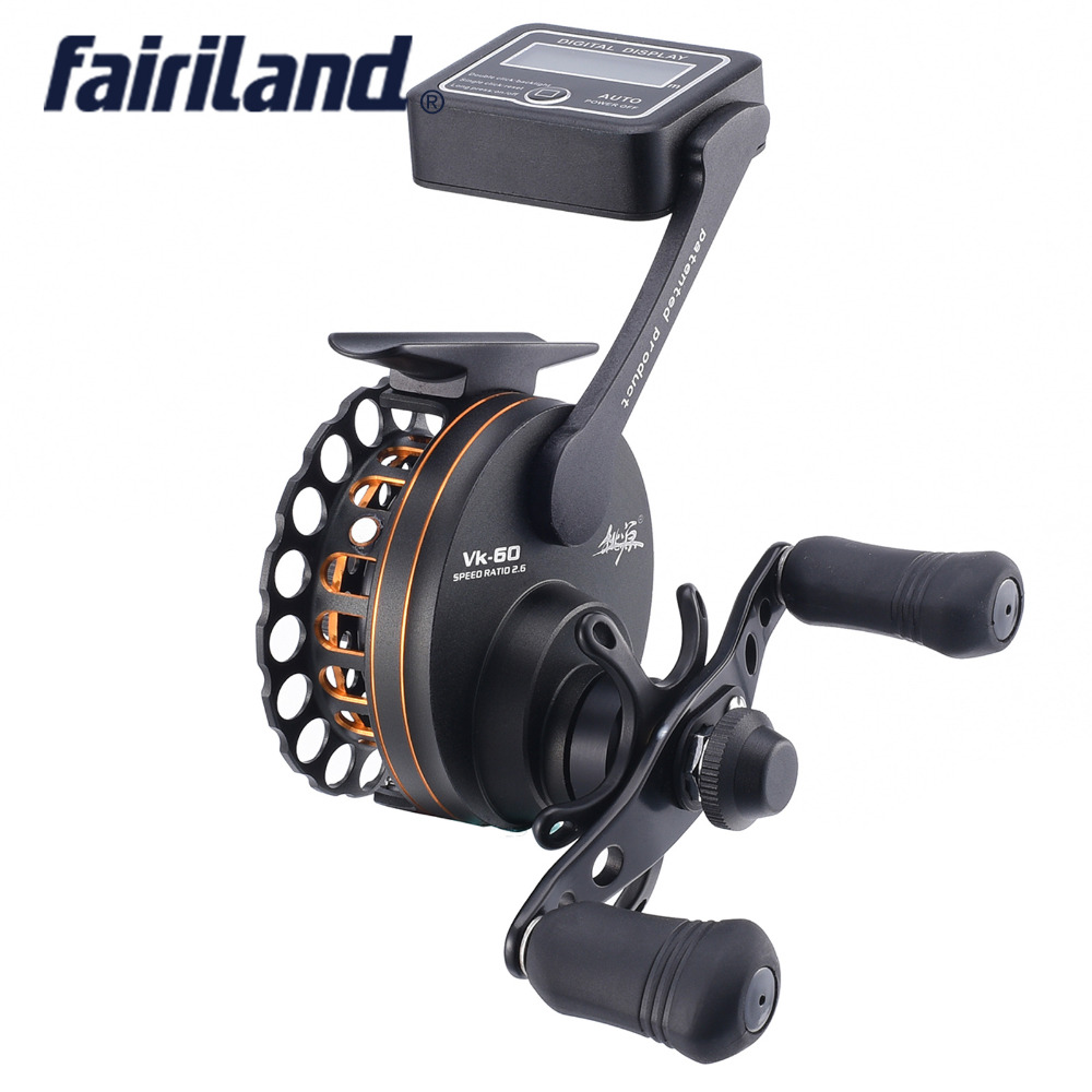VK60 6BB gear ratio 2.6:1 metal gear Left/Right hand raft fishing reel fly ice fishing reel with line counter mikado ace carp 10007 6 1подш gear ratio 4 7 1 сист своб хода