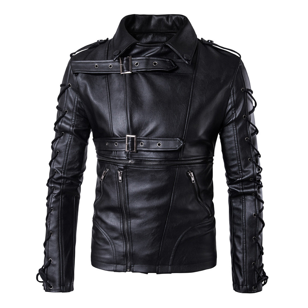 Herobiker Motorcycle Jacket Men Retro Casual PU Leather Jacket Motorcycle Moto Jacket Biker Rider Faux Leather Coat Size M-5XL embroidered faux leather zip up jacket