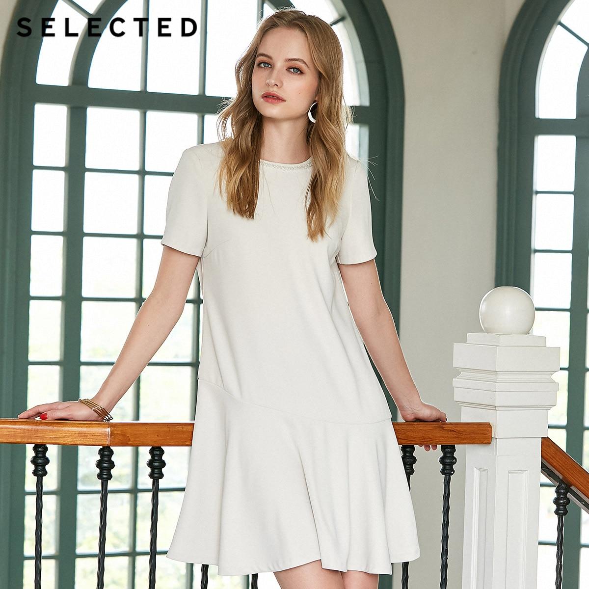 SELECTED Summer Slim Fit Beads Fishtail Dress S 41922J537