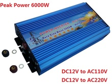 Dual digitalanzeige spitzenleistung 6000 watt inverter 3000 Watt reinen sinus-wechselrichter dc 12 V/24 V zu ac 110 V/220 V Reine Sinuswelle wechselrichter