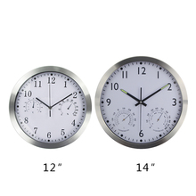 Large Silent Wall Clock Quiet Sweep Movement Round Metal Clocks No-ticking Home Decor Horloge