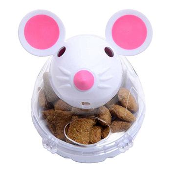 Mouse Tumbler Pet IQ Food Ball Toy Dog Cat Interactive Food Ball Treat Dispenser Pet Play Training Food Leaker Puzzle Ball Toy 1