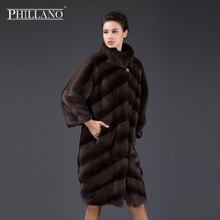 PHILLANO 2017 New Premium Women mink garment natural fur diagonal layout short coat of mink Scandinavia Denmark NAFA YG14043-100