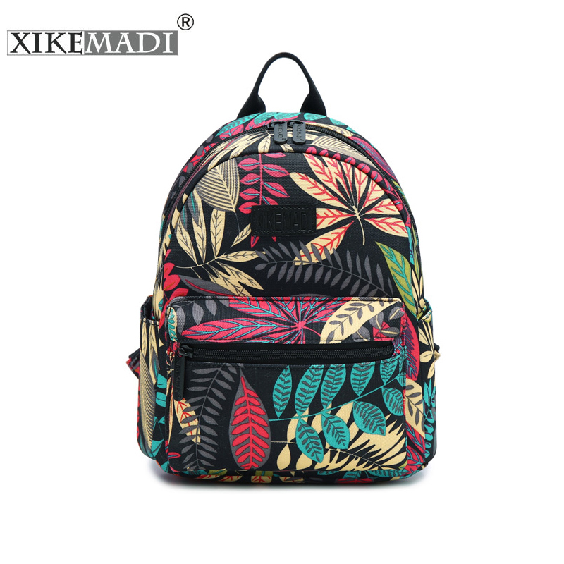 Mini Mochila Printing Backpack Waterproof Nylon Women Backpack School Bag For Teenage Girls Backpacks Casual Daily Durable Bags