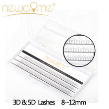 3D and 5D Volume Lashes Extension,2 Trays/Lot Individual Eyelash Extension,Russia Silk Eye Lashes,Natural Long