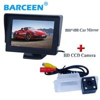 New 4.3 TFT LCD 2Video Way Car Reversing Monitors+ Backup Parking Rearview Camera for VW 12 15Polo hatachback/Magotan/New bora