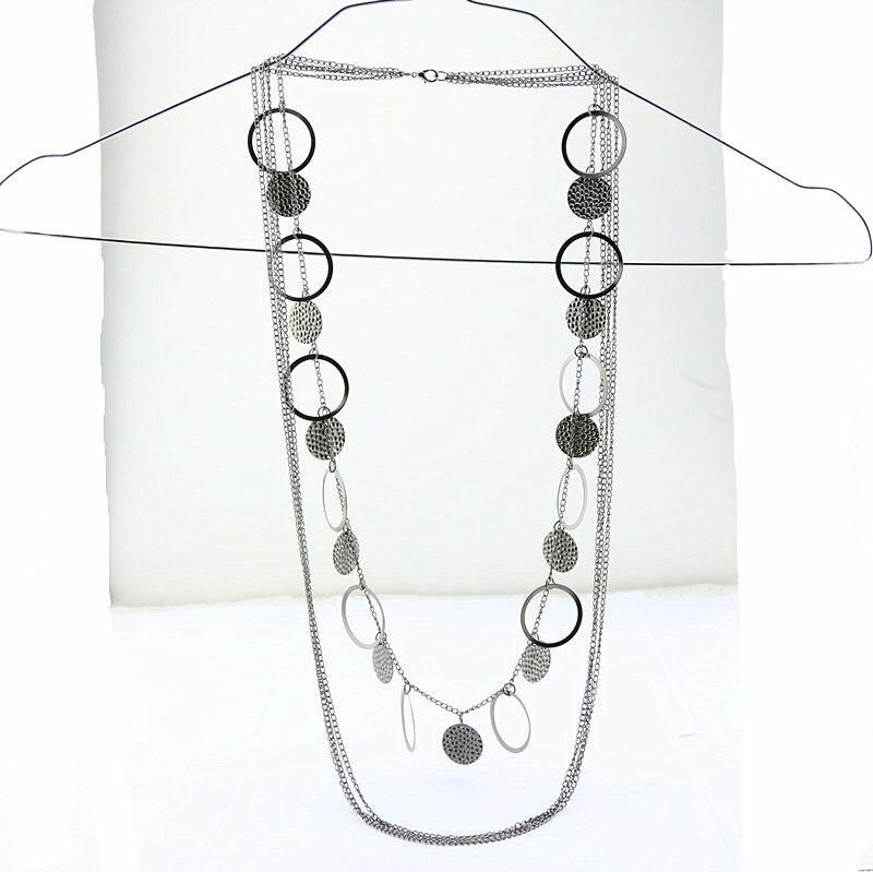 2016 Multideck largo collar de cadena suéter para las niñas joyería accesorios moda Vintage collares pendientes