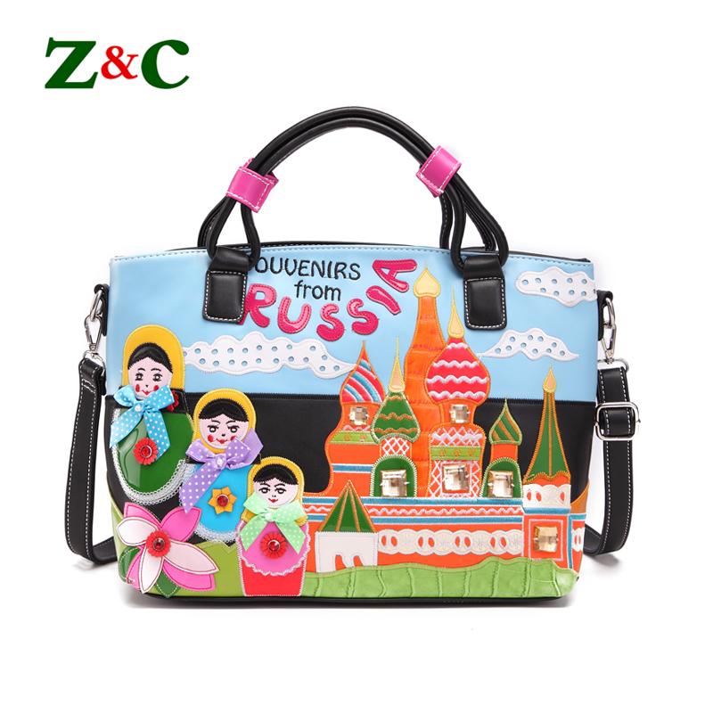 Original Design Women Handbags Stitching Embroidered Tote Bag Hit Color Bow Creative Shoulder Bags Luxury Brand