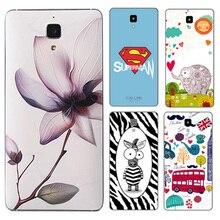 Luxury Slim Original For Xiaomi Mi4 Battery Back Cover Captain America Replacement Plastic Case For Xiaomi Mi4