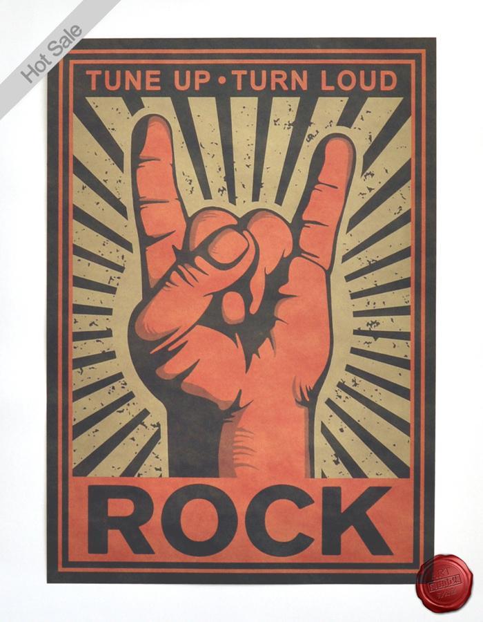 Free Shipping Vintage Kraft MUSIC ROCK Poster Retro Wall Art Crafts