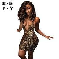 FY 2017 Summer Dress Women Above Knee Mini Solid Sheath Sexy Club Dress Regular Party Dresses