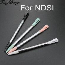 Tindong caneta retrátil de metal, caneta retrátil extensível com stylus de tela touch para nintendo dsi e ndsi, 4 peças