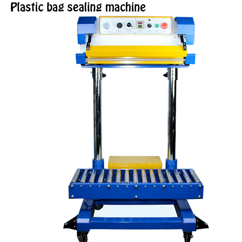 Plastic film bag sealing machine pneumatic sealing machine plastic bag sealing machine fertilizer bag packing machine QF-600L sealing machine
